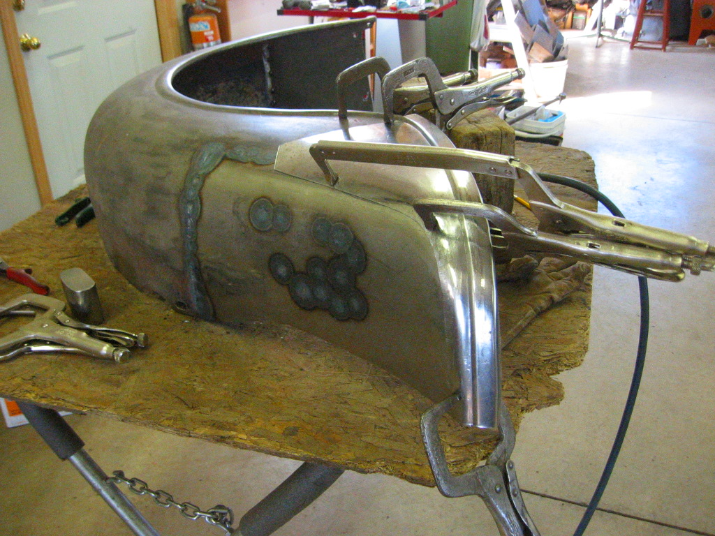 1935 Chevrolet Rear Fender Repair